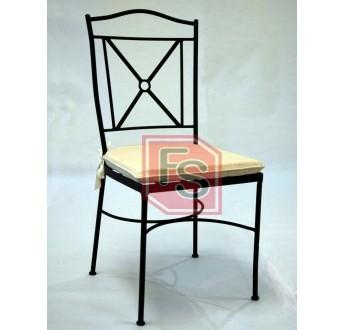 Nueva silla de forja festivales del sur for Sillas de forja para comedor