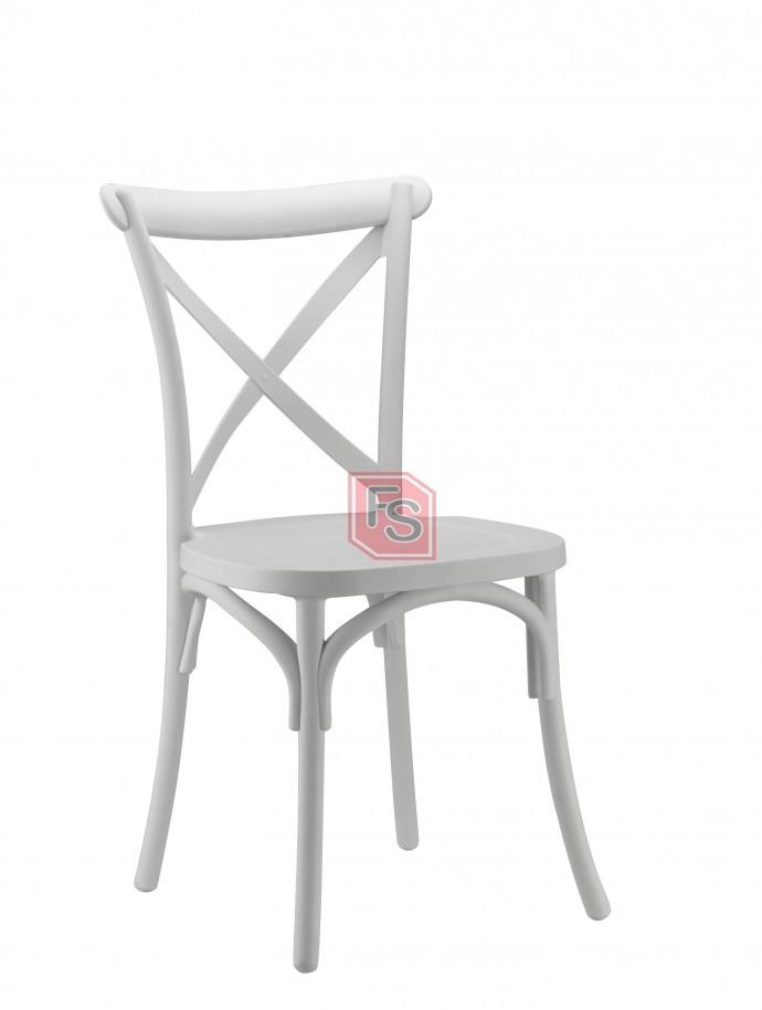 Silla crossback resina blanca