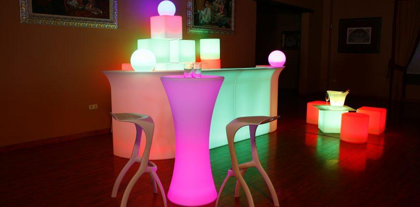 ¡Novedad! Iluminación LED para eventos