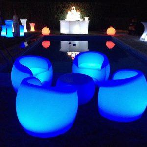 Muebles led en azul