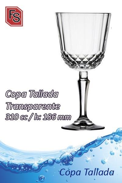 Copa Tallada Transparente