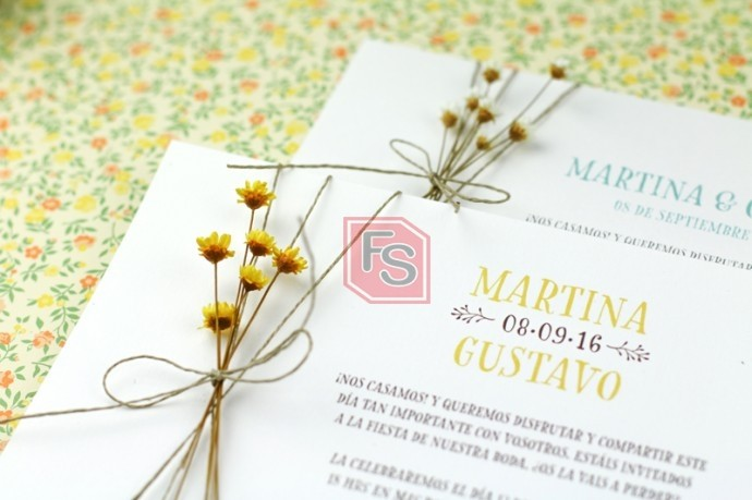 Invitaciones de bodas. Fuente: Tendencias de boda magazine.
