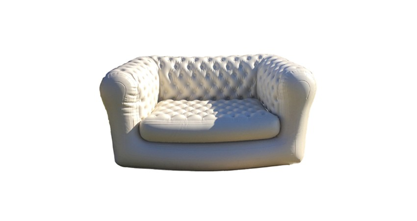 Sofá Chesterfield Hinchable Blanco