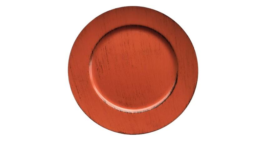 Bajo Plato PVC Naranja