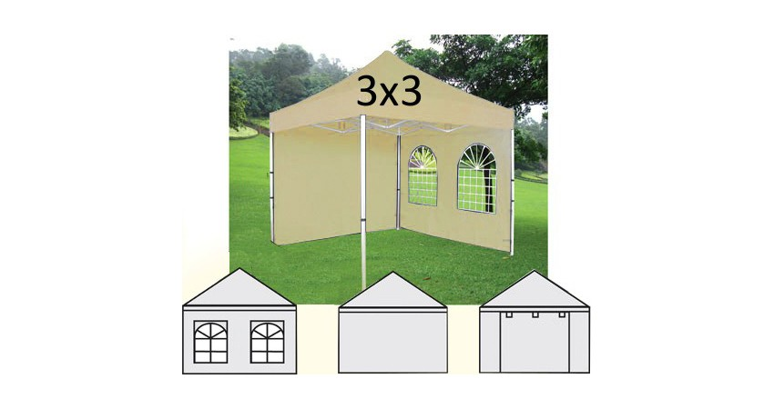 Gazebo Plegable 3×3 M