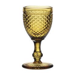 Copa Cristal Tallado Ámbar