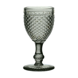 Copa Cristal Tallado Gris