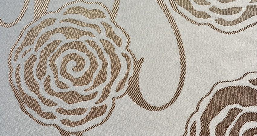 Mantel Rosas Bronce Reversible