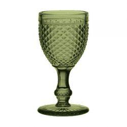 Copa Cristal Tallado Verde