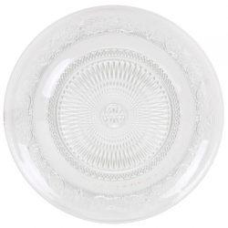 Bajo Plato Cristal Tallado